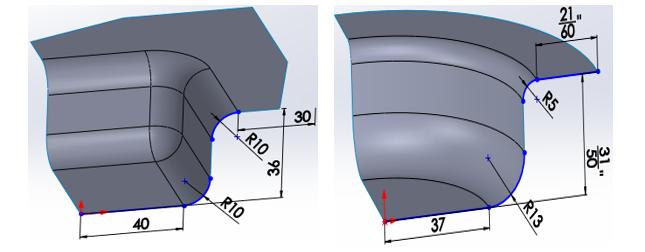 شکل 5- فنجان¬های دایره¬ای و مربعی