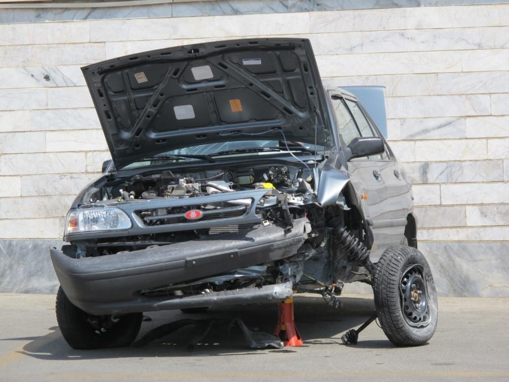 شکل 3. خودرو پس از تصادف