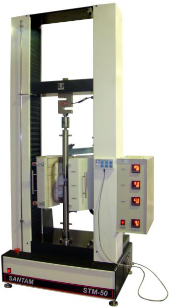 دستگاه انیورسال سنتام STM-50  مجهز به واحد ثبت تغییرات نیرو و کورهی حرارتیِ الکتریکی