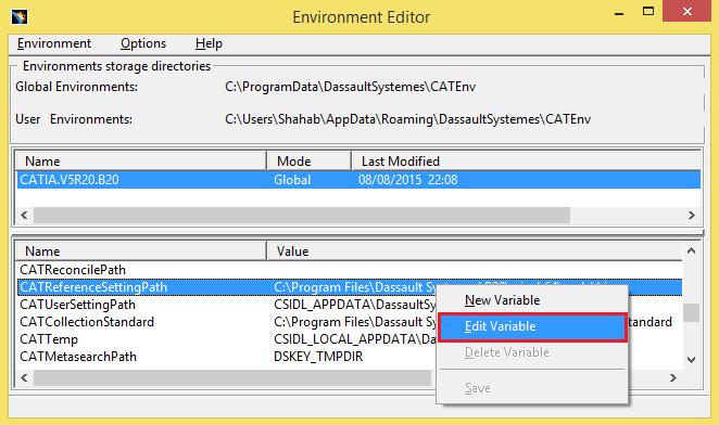 environment editor