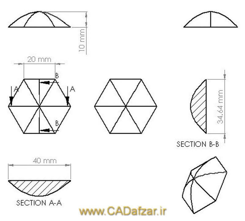 هندسه اشکال لانه زنبوری نوین طراحی شده