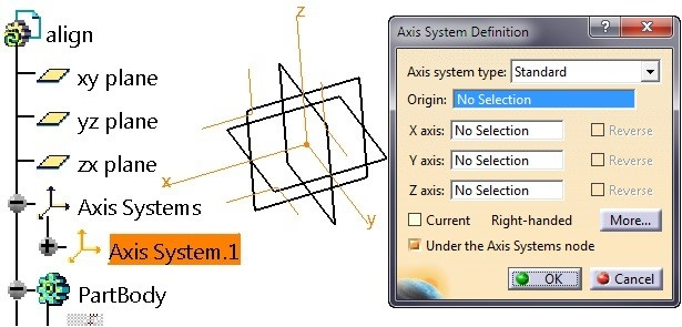 axis system definition