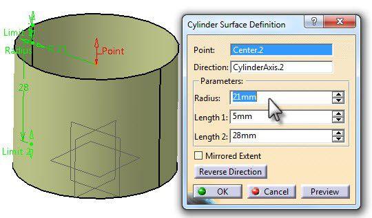 cylinder surface defenition