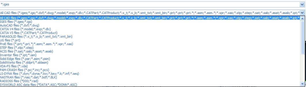 انواع فرمتهای قابل باز شدن در پروکست ورژن جدید