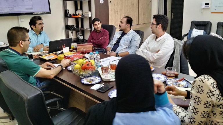 دیدار با ریاست دپارتمانن ورزش و فرهنگ جوانان (مهندس حامخد ابوالحبیب ) و دکتر قرآنی (مشاور کسب و کار )