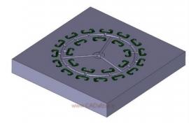 طراحی Cavity و مسیر تزریق یا Runner با سطح جدایش ساده