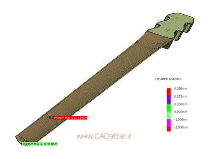 آنالیز ابعادی مدل سه بعدی و ابرنقاط قطعه شماره 1