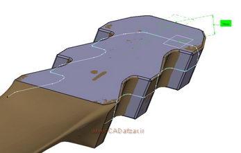 ایجاد برش در مدل سه بعدی و ابرنقاط  ( در فاصله 7 میلی متری از سطح بالا)