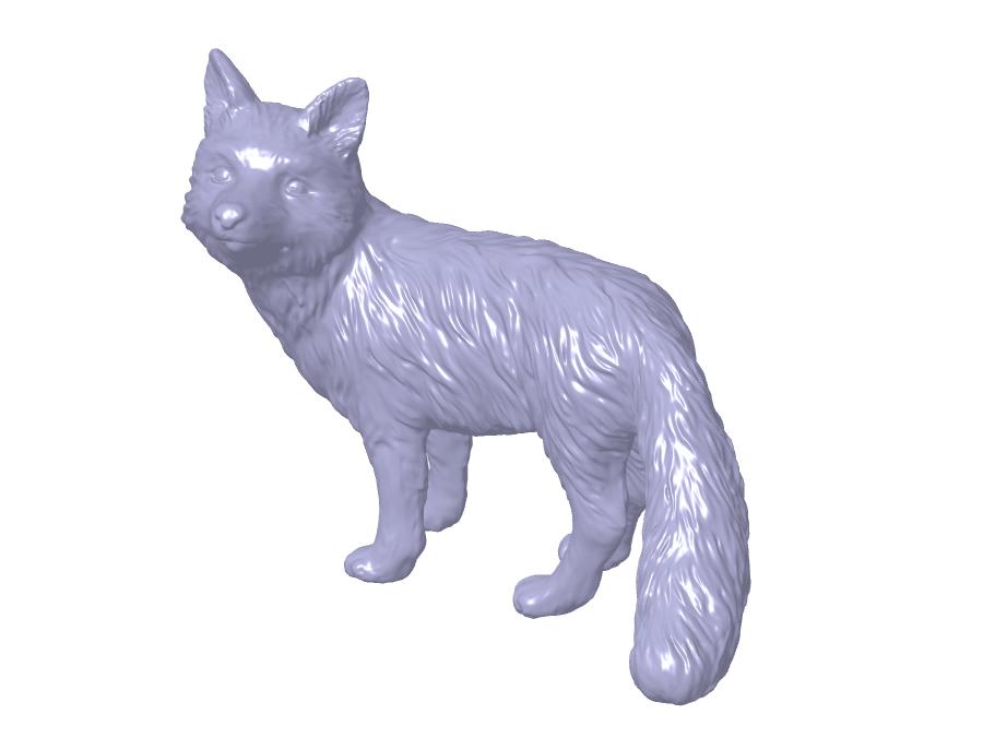 ابر نقاط مجسمه روباه در کتیا
