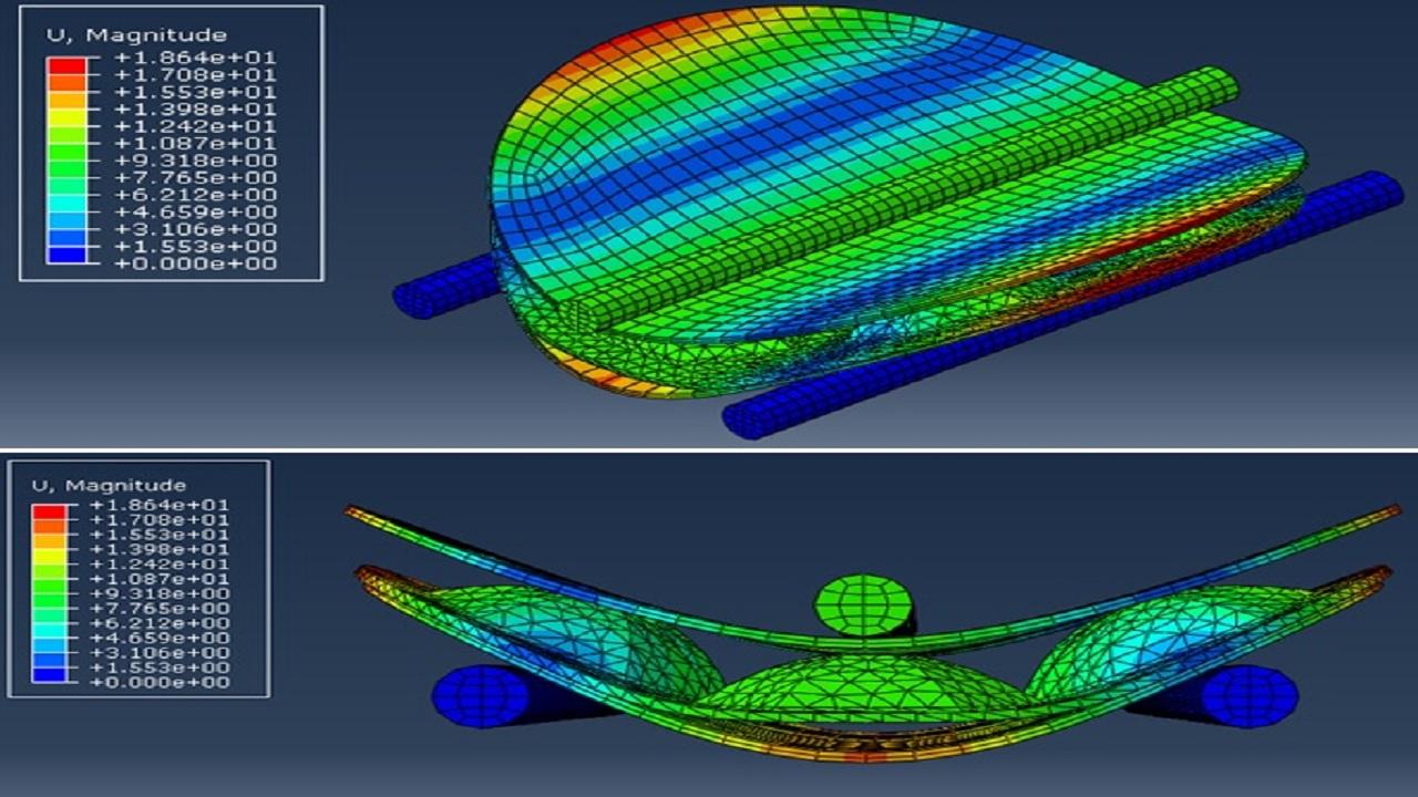 بررسی تجربی و شبیهسازی عددی رفتار مکانیکی یک ساندویچ پنل لانه زنبوری نوین شکل گرفته با فرآیند هیدروفرمینگ|کدافزار