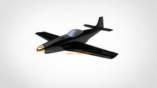 مدل سه بعدی بدنه هواپیما ماستنگ  p51 در کتیا|محیط فری استایل (free style)
