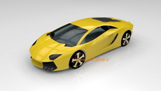 مدل سه بعدی بدنه خودرو لامبورگینی در کتیا