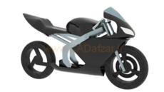 مدل سه بعدی بدنه موتور سیکلت در کتیا محیط سطح سازی generative shape design