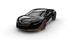 مدل سه بعدی اتومبیل اسپرت|محیط سطح سازی