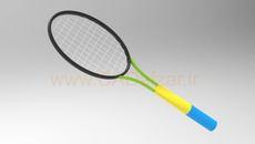 مدل سه بعدی راکت تنیس