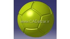 توپ فوتبال 12 تکه پنج ضلعی
