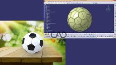 طراحی توپ فوتبال در CATIA V5-6 R21 | کدافزار