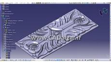 مدل سه بعدی گل برجسته منبت کاری در کتیا کدافزار