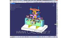 مدل سه بعدی  مجموعه مونتاژی موتور بخار در محیط اسمبلی کتیا (133 قطعه)