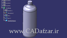 آموزش طراحی بطری بهینه سازی شده در کتیا|کدافزار