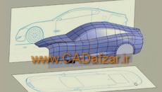 آموزش رایگان کتیا|مدلسازی بدنه خودرو|محیط  Imagine and Shape |کدافزار
