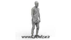 مدل سه بعدی مجسمه مرد بصورت سالید و فرمت STEP کدافزار