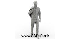 مدل سه بعدی مرد بصورت سالید