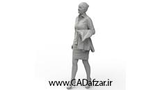 مدل سه بعدی مجسمه خانم ایستاده|کدافزار