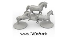 مدل سه بعدی مجسمه اسب کدافزار