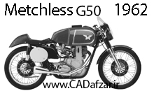بلوپرینت موتورسیکلت قدیمی ماچلس| کدافزار