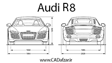 بلوپرینت ماشین آئودی  R8| کدافزار