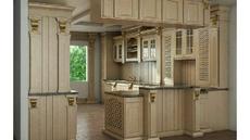 مدل سه بعدی محیط داخلی آشپزخانه کلاسیک|اسکچاپ|3 (سینک،آبچکان،کابینت گوشه)