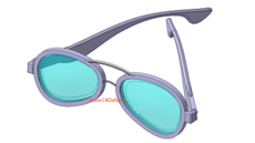 مدل سه بعدی فریم عینک (مسابقه 1)