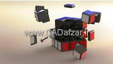 مدل سه بعدی مکعب روبیک در سالیدورک