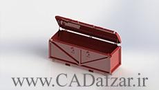 مدل سه بعدی جعبه ابزار صنعتی|سالیدورکس 2018