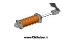 مدل سه بعدی جک هیدرولیکی -2 سالیدورکس کدافزار