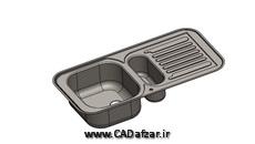 مدل سه بعدی سینک ظرفشویی sink|سالیدورکس|کدافزار