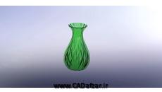 مدل سه بعدی گلدان Vase سالیدورکس کدافزار