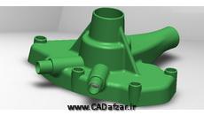 مدل سه بعدی کاور پمپ آب|سالیدورکس|کدافزار