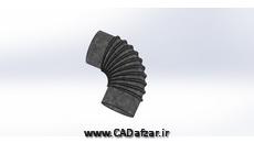 مدل سه بعدی دودکش - flue|سالیدورکس|کدافزار