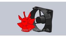 مدل سه بعدی فن cpu سالیدورکس کدافزار