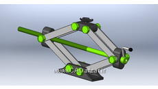مدل سه بعدی جک مکانیکی خودرو سالیدورکس کدافزار