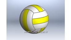 مدل سه بعدی توپ والیبال|سالیدورکس|کدافزار