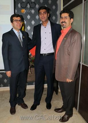 جناب مهندس علي پور و جناب مهندس میلاد خانبابا و جناب مهندس مرادي