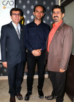 جناب مهندس علي پور و جناب مهندس شهاب اسدی و جناب مهندس مرادي