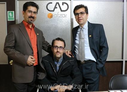 جناب مهندس مرادي و جناب مهندس رسول محمدي و جناب مهندس علي پور