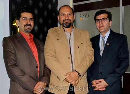 جناب مهندس مرادي و جناب مهندس محمودی مطلق و جناب مهندس علي پور