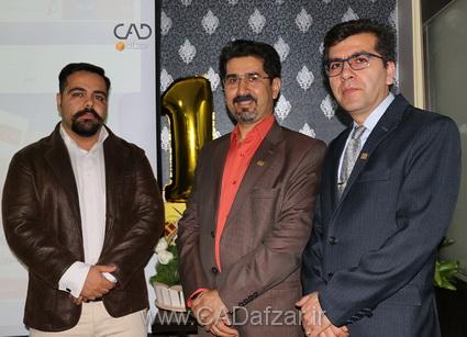 جناب مهندس فریدون مرادي  و جناب مهندس  محمدرضا علي پور و جناب مهندس ناصر نوروزی