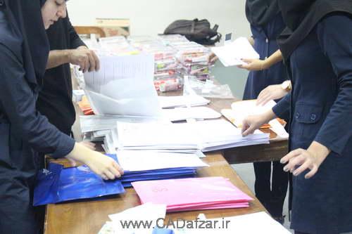 مراحل آماده سازی تدارکات مسابقه کشوری طراحی مهندسی امیرکبیر