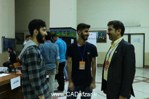 صحبت های اعضای انجمن علمی دانشگاه امیرکبیر با مهندس علی پور